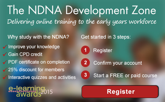 The NDNA Development Zone - get started in 3 steps: - Register, confirm your account, start a free or paid course