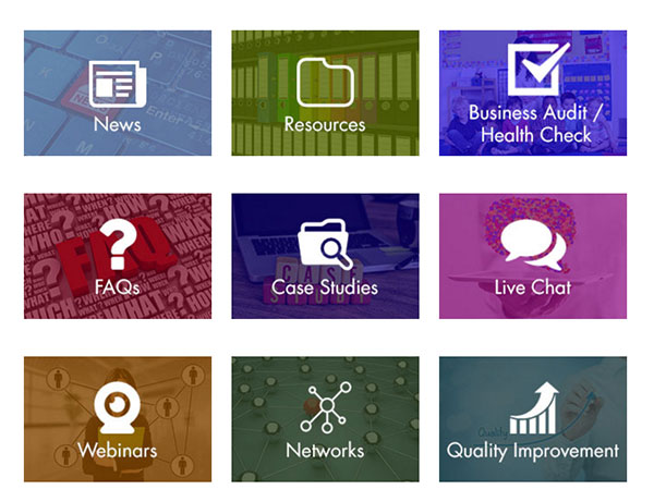 Northamptonshire Business Support grid Images