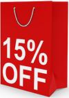 15% Off bag